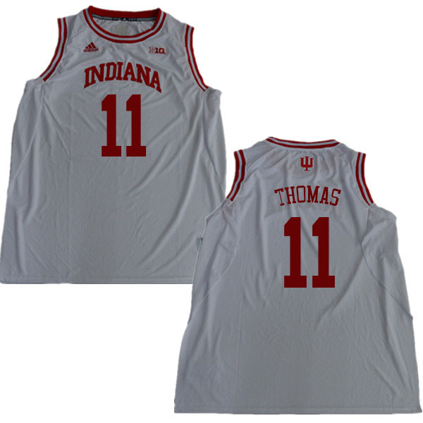 Men #11 Isiah Thomas Indiana Hoosiers College Basketball Jerseys Sale-White